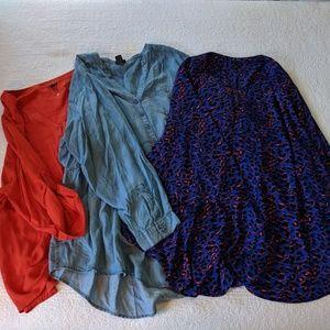Set of 3 Torrid Blouses - Size 5